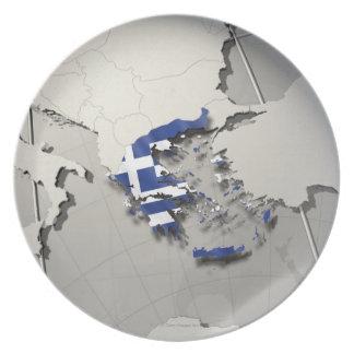Flag of Greece Plates