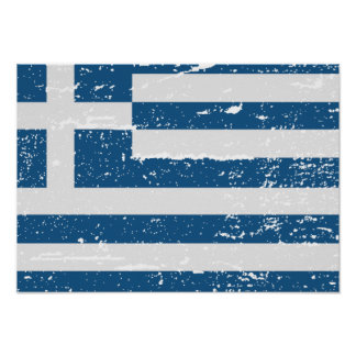 FLAG OF GREECE POSTER