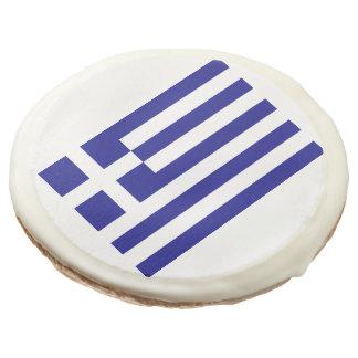 Flag of Greece Sugar Cookie