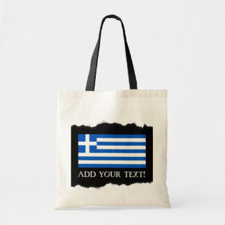 Flag of Greece Tote Bag