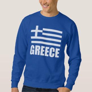 Flag Of Greece White Text Sweatshirt