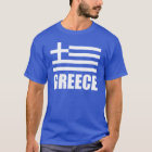 Flag Of Greece White Text T-Shirt