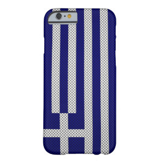 Flag of Greece with Carbon Fiber Effect Barely There iPhone 6 Case