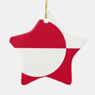 Flag of Greenland Ceramic Ornament
