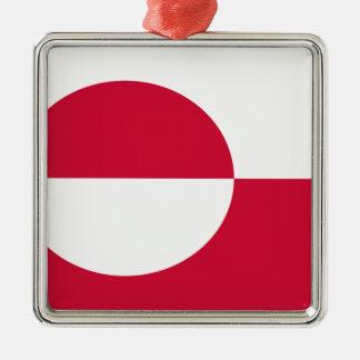 Flag of Greenland Metal Ornament
