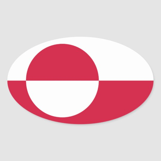 Flag of Greenland Oval Sticker