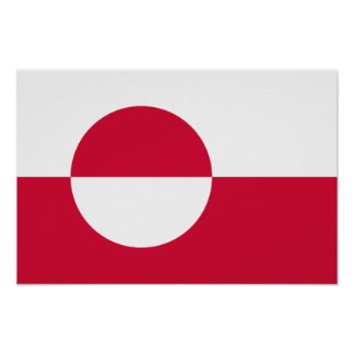 Flag of Greenland Poster