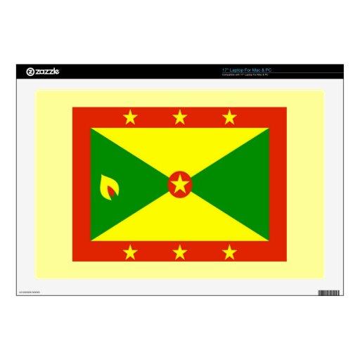"Flag of Grenada 17"" Laptop Decal"