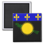 Flag of Guadeloupe 2 Inch Square Magnet