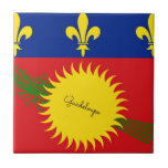 """Flag of Guadeloupe Ceramic Tile<br><div class=""""desc"""">Flag of Guadeloupe ceramic tile. VIRGINIA5050 (My Original Artwork): Creative and unusual gifts for all occasions at www.zazzle.com/virginia5050* INTERNATIONAL GIFTS at zazzle.com/InternationalGifts,  Florida Gift Store at zazzle.com/FloridaGiftStore*,  RETIREMENT GIFT STORE at zazzle.com/RetirementGiftStore,  I LOVE GIFT STORE at zazzle.com/ILoveGiftStore,  and BIRTHDAY GIFT STORE at zazzle.com/BirthdayGiftStore*</div>"""