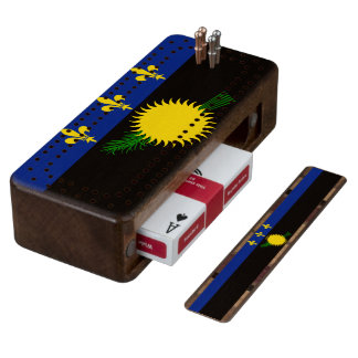 Flag of Guadeloupe Cribbage Board