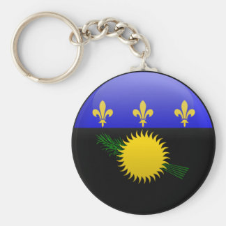 Flag of Guadeloupe Keychain