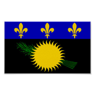 Flag of Guadeloupe Poster