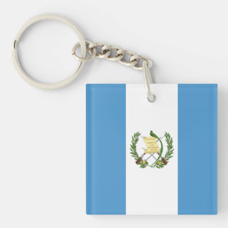 Flag of Guatemala - Central American Keychain
