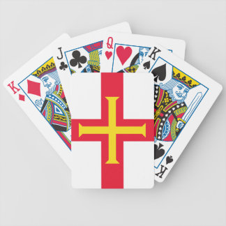 Flag of Guernsey Bicycle Playing Cards