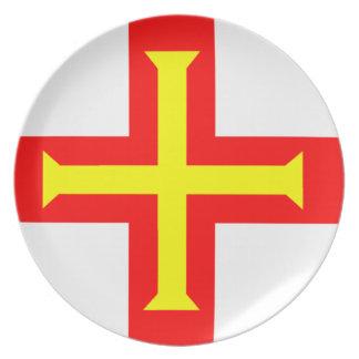 Flag of Guernsey Melamine Plate