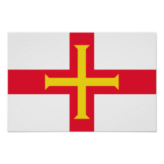 Flag of Guernsey Poster
