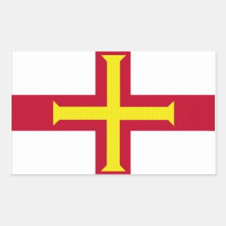 Flag of Guernsey Rectangular Sticker