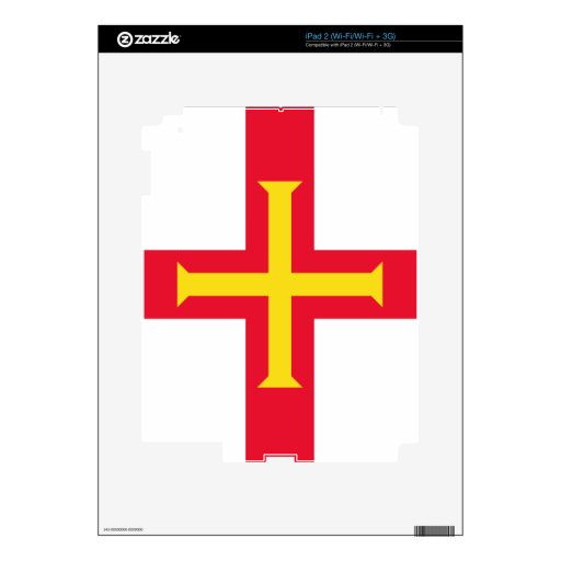Flag of Guernsey Decal For The iPad 2
