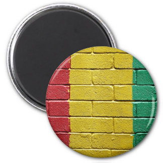 Flag of Guinea 2 Inch Round Magnet