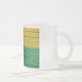 Flag of Guinea-Bissau Frosted Glass Coffee Mug