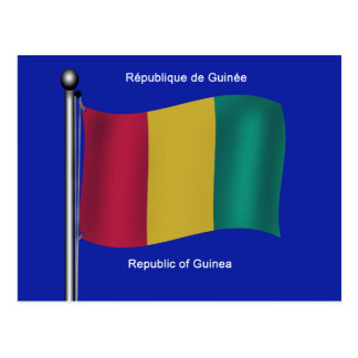 Flag of Guinea Postcard