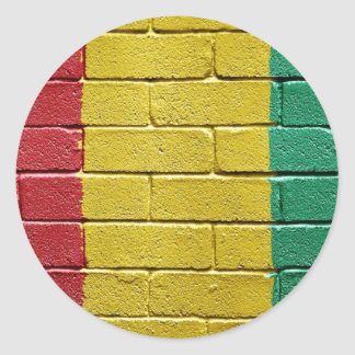 Flag of Guinea Round Stickers