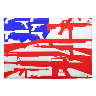 Flag Of Guns 2nd Amendment Cloth Placemat