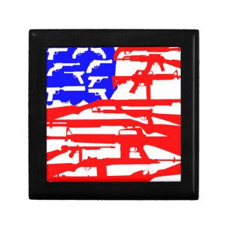 Flag Of Guns 2nd Amendment Keepsake Box
