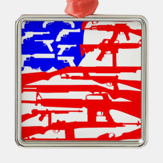 Flag Of Guns 2nd Amendment Christmas Tree Ornament