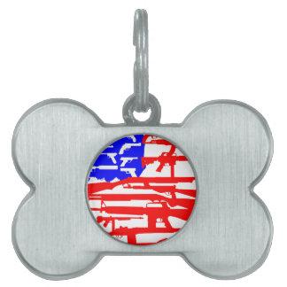 Flag Of Guns 2nd Amendment Pet Tag