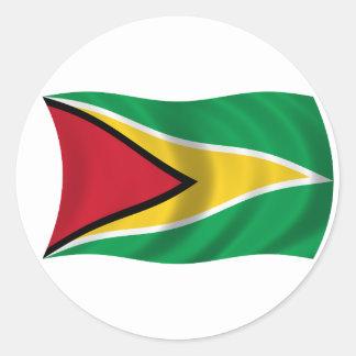 Flag of Guyana Classic Round Sticker