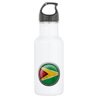 Flag of Guyana Disc Stainless Steel Water Bottle