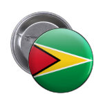 Flag of Guyana Pinback Button
