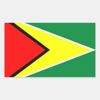 Flag of Guyana Rectangular Sticker