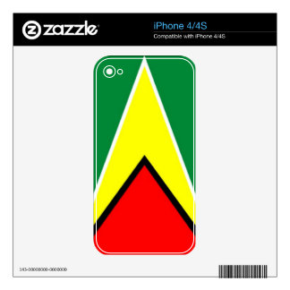 Flag of Guyana Skins For iPhone 4