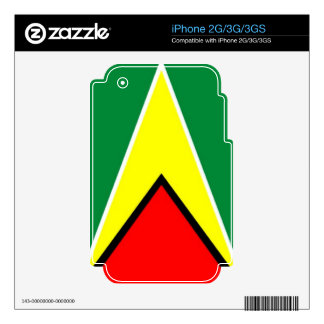 Flag of Guyana Decal For iPhone 3GS
