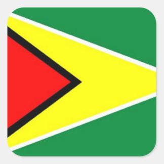 Flag of Guyana Square Sticker