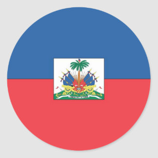 Flag of Haiti Round Sticker