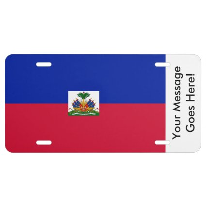 Flag of Hati License Plate