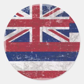 Flag of Hawaii Classic Round Sticker