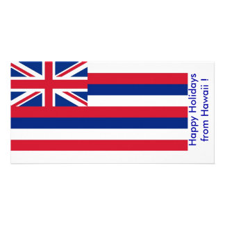 Flag of Hawaii, Happy Holidays from U.S.A. Card