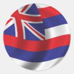Flag of Hawaii Round Sticker