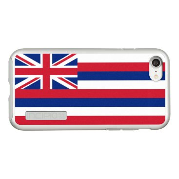 USA Themed Flag of Hawaii Silver iPhone Case