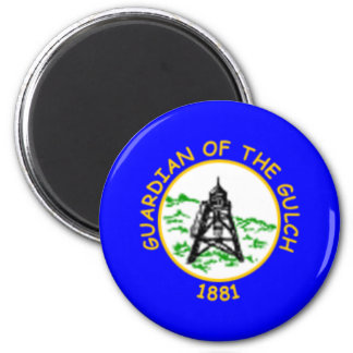 Flag of Helena, Montana 2 Inch Round Magnet
