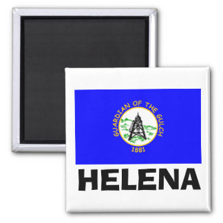 Flag of Helena,  Montana 2 Inch Square Magnet
