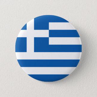 Flag of Hellenic Republic (Greece) Pinback Button