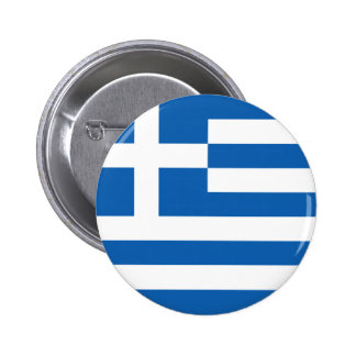 Flag of Hellenic Republic (Greece) Pinback Button