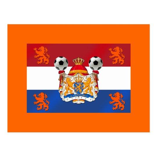 Flag of Holland Netherlands Soccer Artwork Postcard