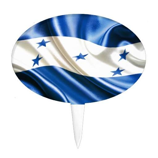 Cake Designs Honduras : FLAG OF HONDURAS CAKE TOPPERS Zazzle